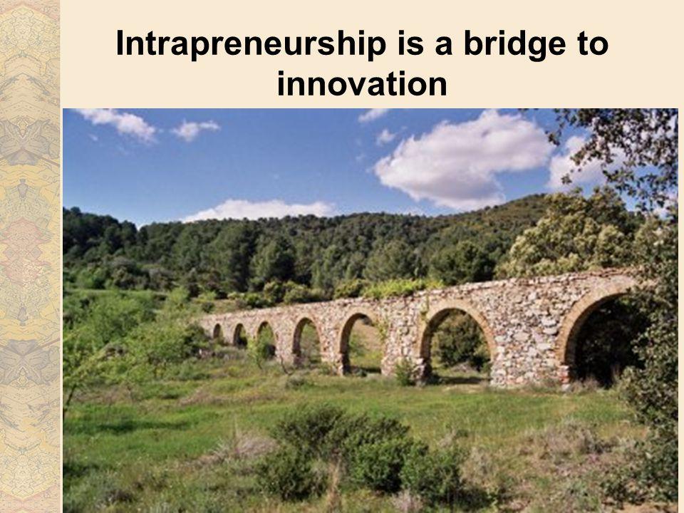 Intrapreneurship is a bridge to innovation