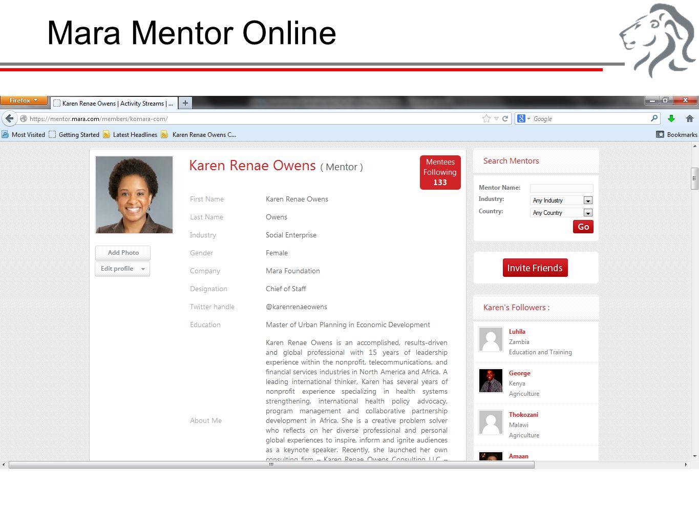 Mara Mentor Online