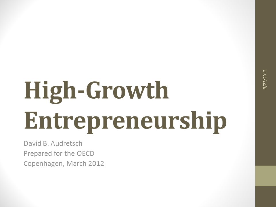 Research Questions What constitutes a high-growth firm .