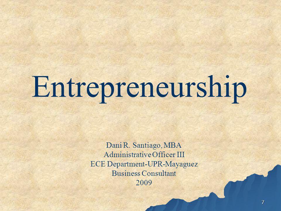 7 Entrepreneurship Dani R.