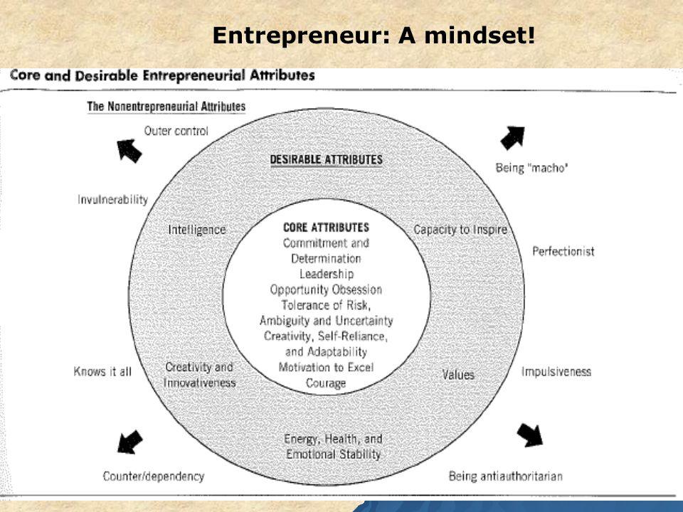 10 Entrepreneur: A mindset!