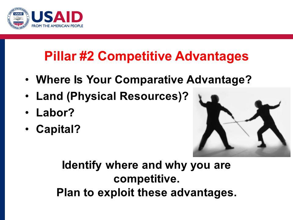 Pillar #2 Competitive Advantages Where Is Your Comparative Advantage.