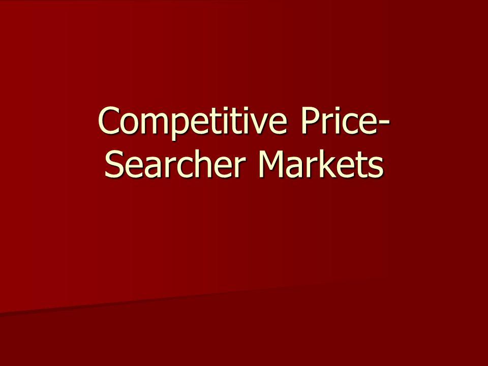 Competitive Price- Searcher Markets