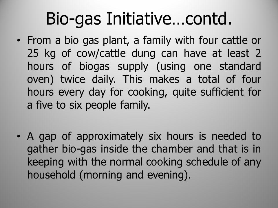 Bio-gas Initiative…contd.