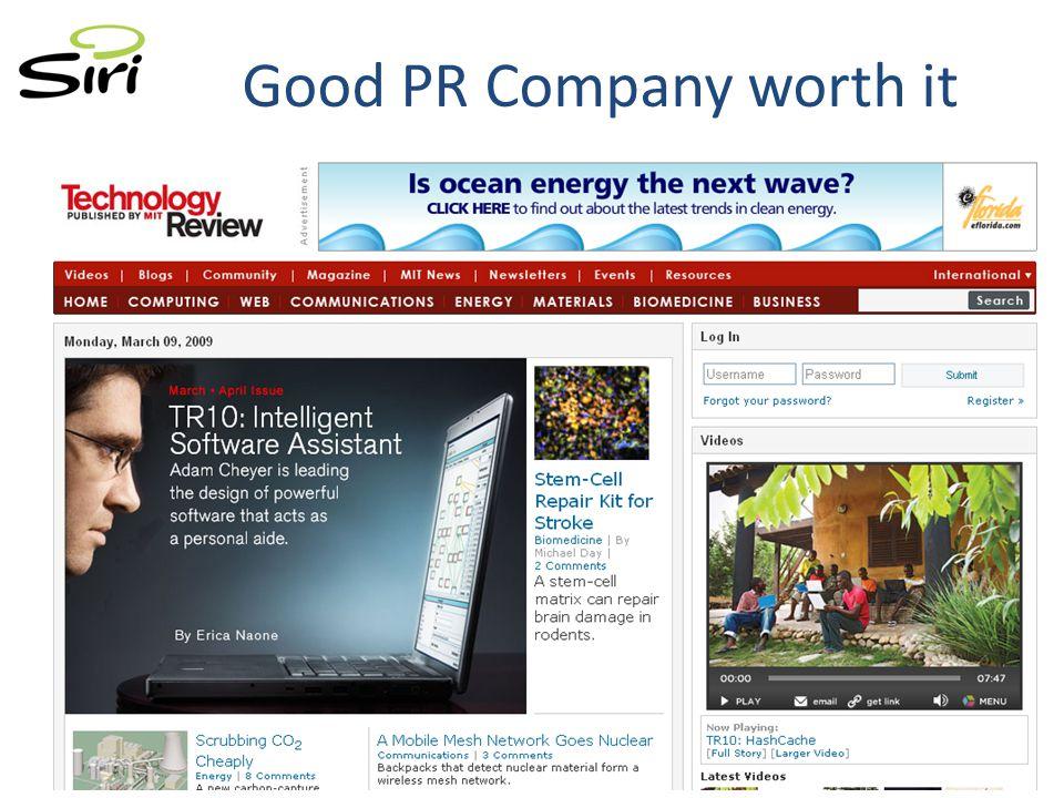 Good PR Company worth it
