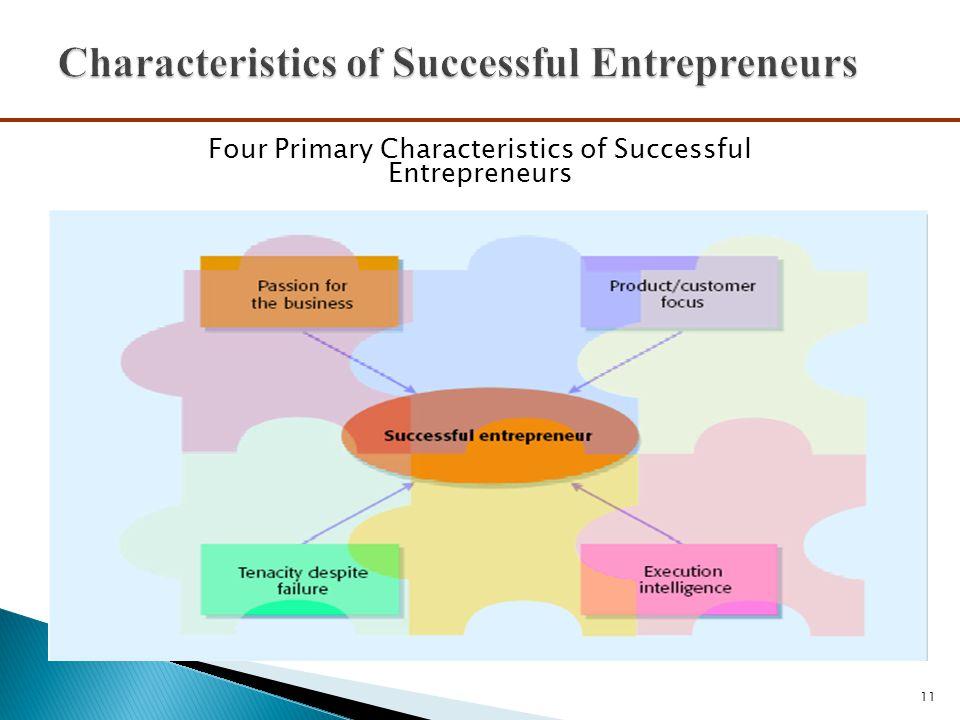11 Four Primary Characteristics of Successful Entrepreneurs