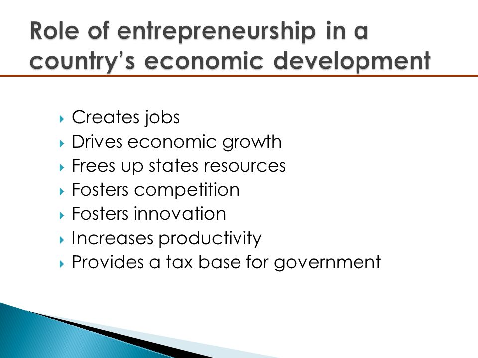  Creates jobs  Drives economic growth  Frees up states resources  Fosters competition  Fosters innovation  Increases productivity  Provides a t
