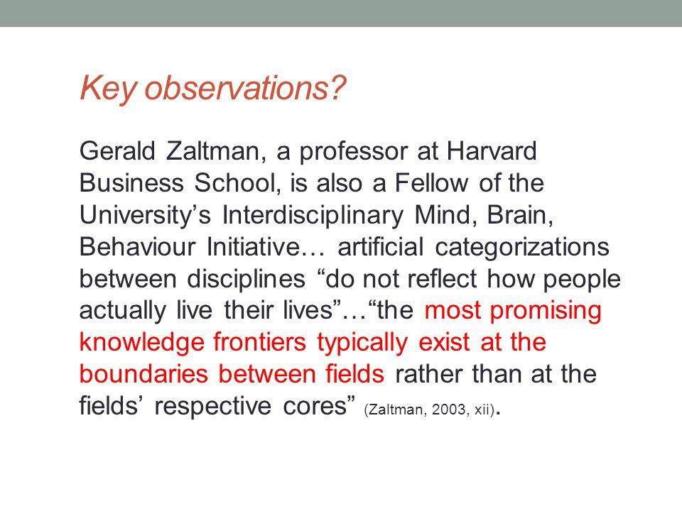Key observations.