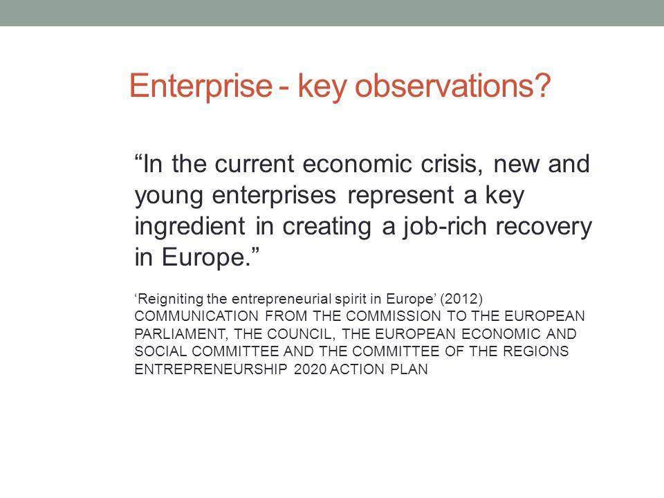Enterprise - key observations.