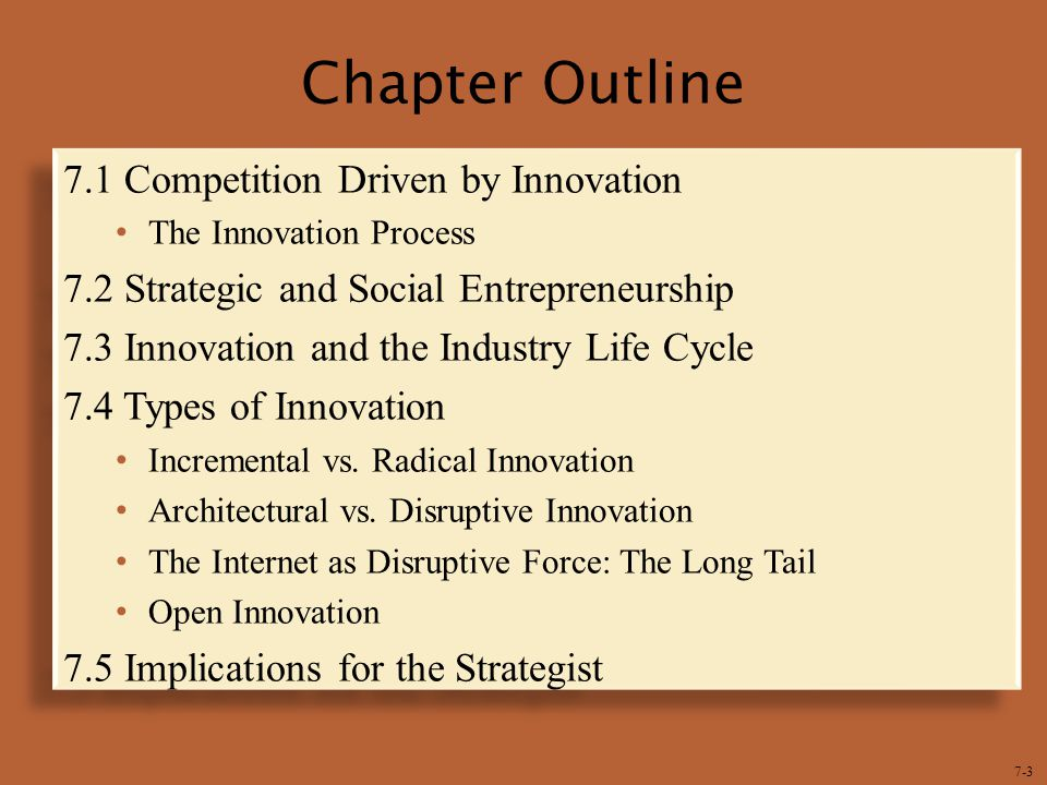 7-4  Innovation is a big driver in the competitive process.