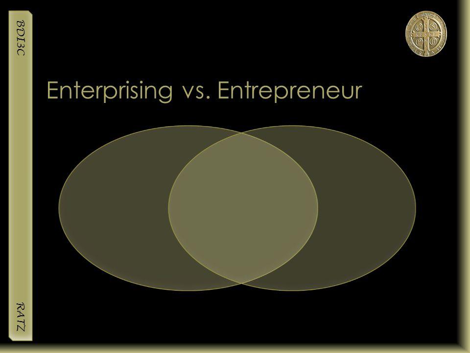 BDI3C RATZ Enterprising vs. Entrepreneur