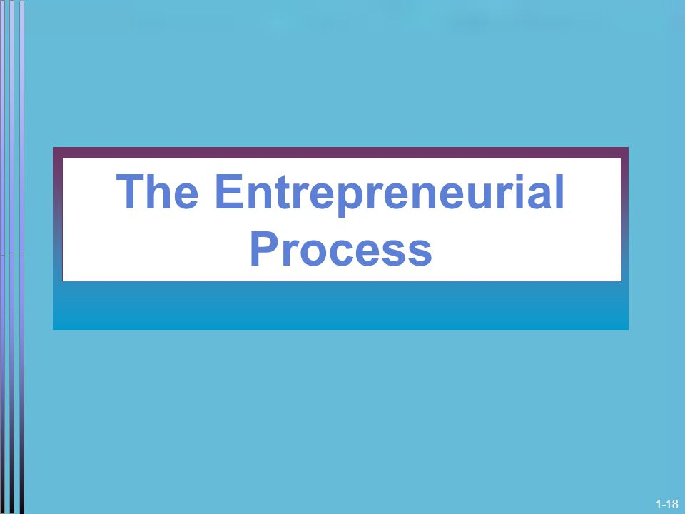 1-18 The Entrepreneurial Process