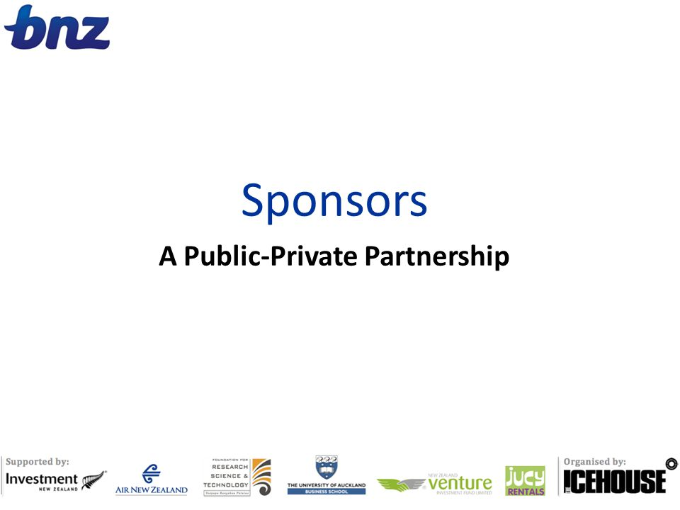 Sponsors A Public-Private Partnership