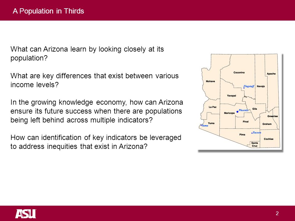University as Entrepreneur What can Arizona learn by looking closely at its population.