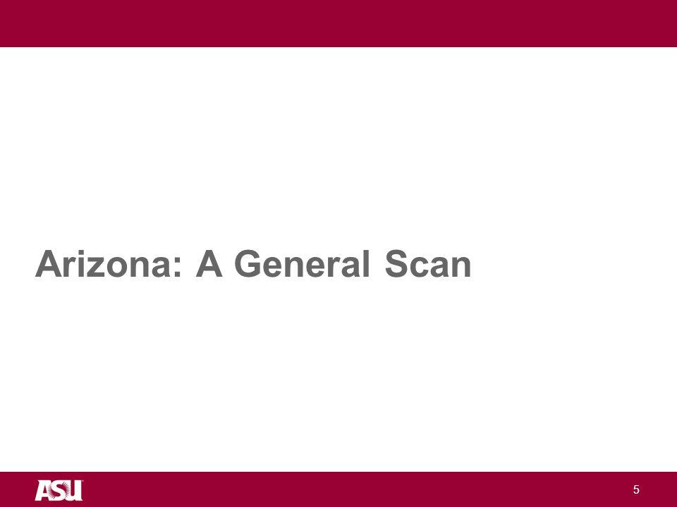 University as Entrepreneur Arizona: A General Scan 5