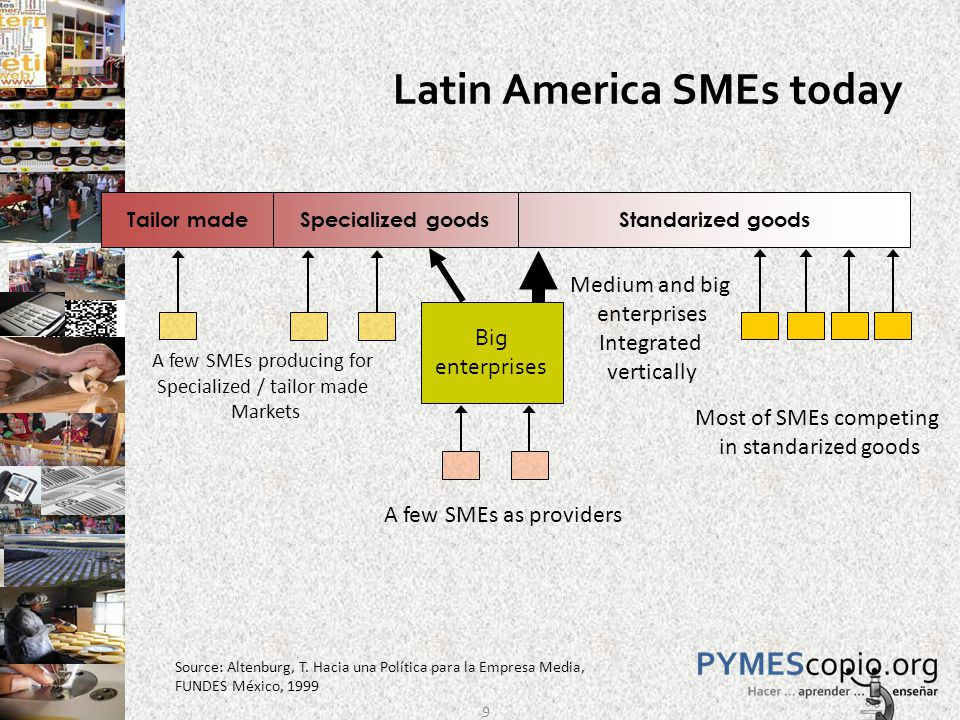 Innovation in Small business (%) Source: Obando, Rojas, Zevallos (2008).. 20
