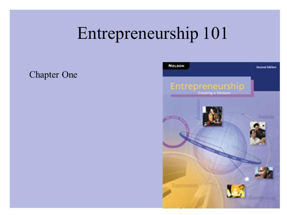 Entrepreneurship 101 Chapter One