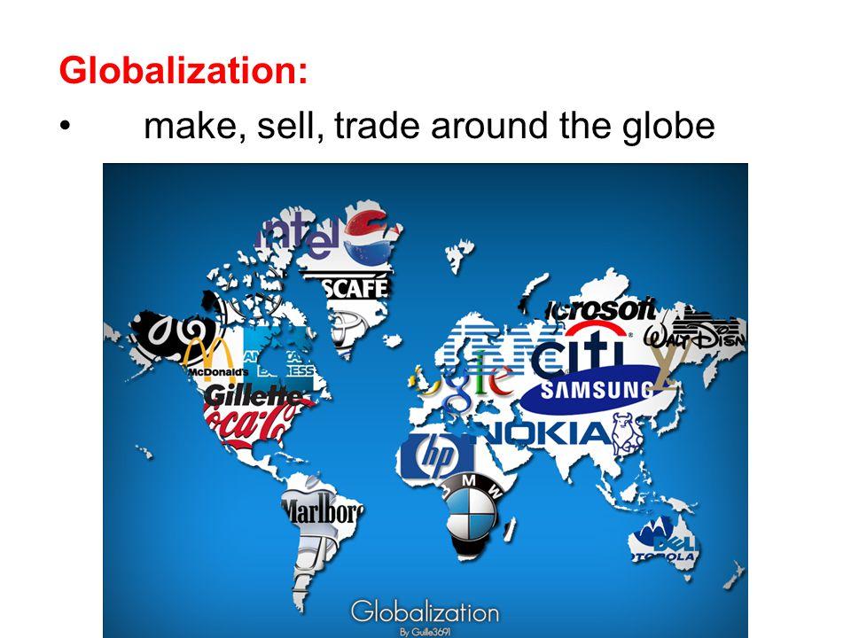 Globalization: make, sell, trade around the globe