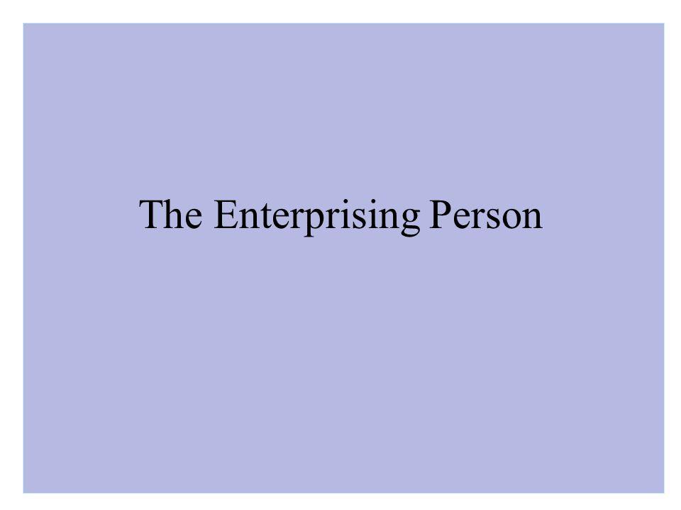 The Enterprising Person