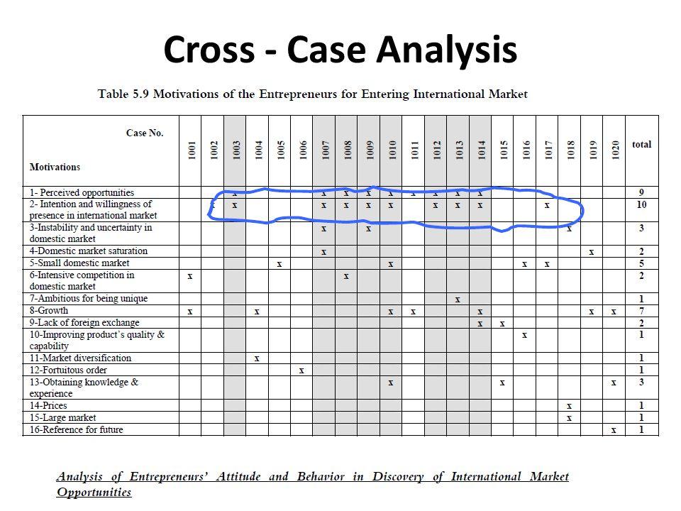 Cross - Case Analysis