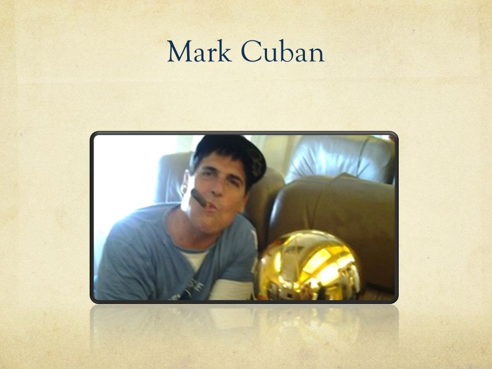 Conclusion of Mark Cuban: Know how to sell.