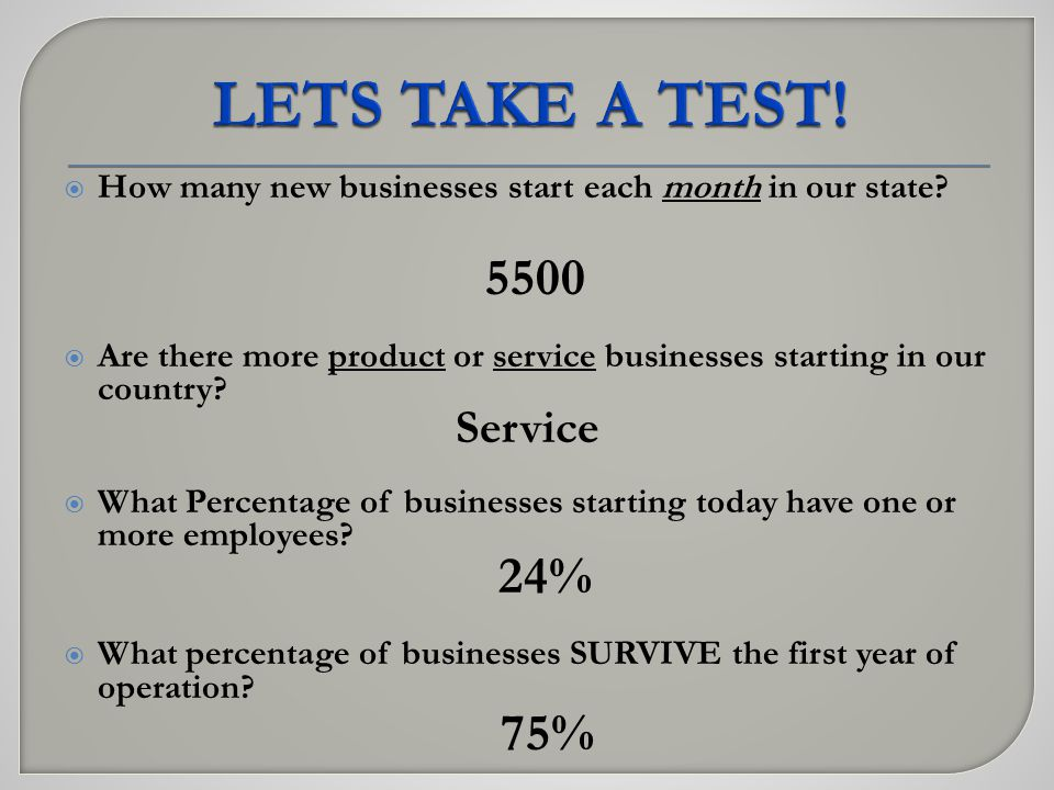 How many new businesses start each month in our state.