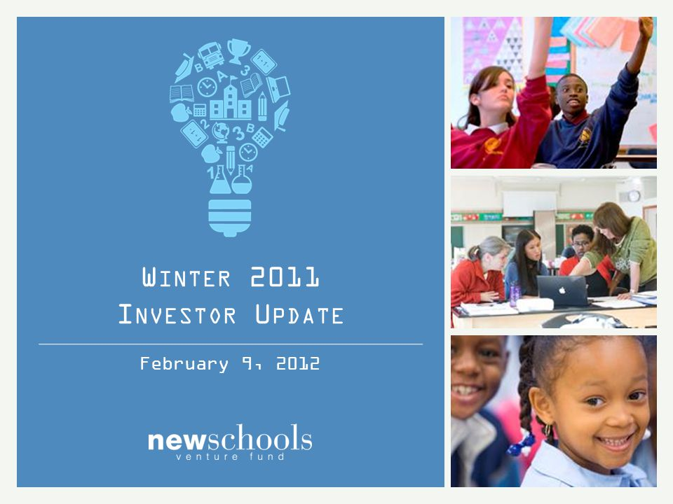 MasteryConnect 12 Winter 2011 Investor Update INNOVATION FUND INVESTMENTS MasteryConnect helps teachers find formative assessments that work with both state and Common Core standards, and helps them track student progress toward mastery.