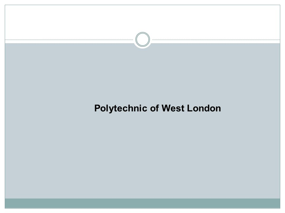 Polytechnic of West London