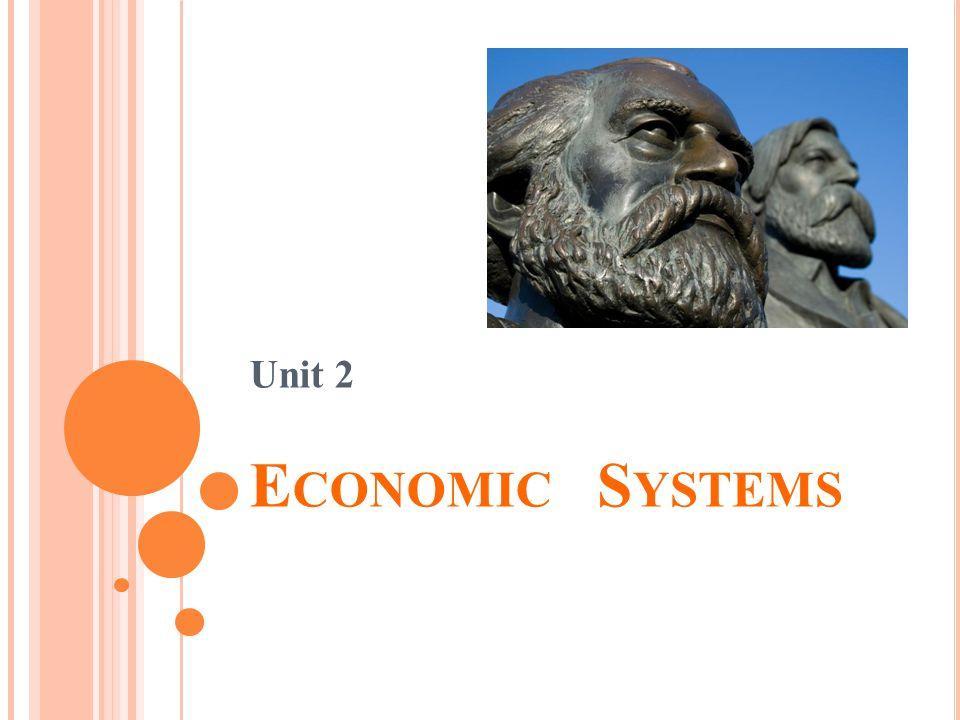 Unit 2 E CONOMIC S YSTEMS