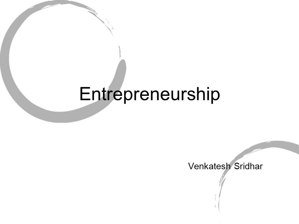 Venkatesh Sridhar Entrepreneurship
