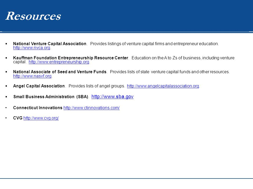 WIP Resources  National Venture Capital Association.