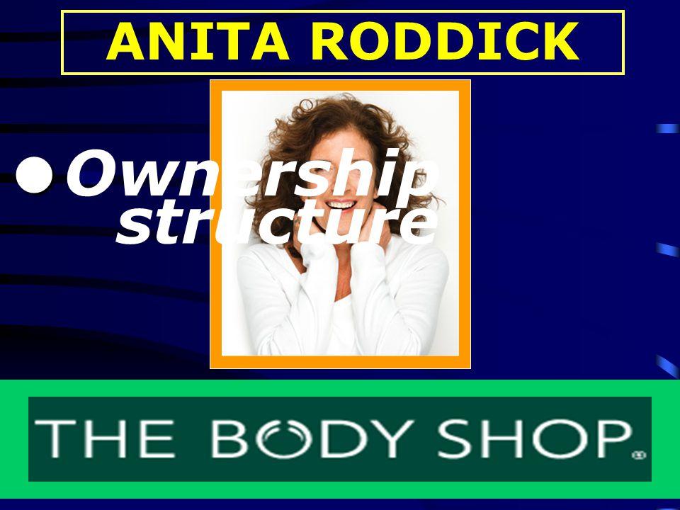 ANITA RODDICK - Ownership structure