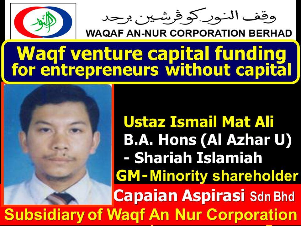 CAPAIAN ASPIRASI Sdn Bhd AMANAH Entrepreneur Ustaz Ismail Mat Ali, General Manager Ustaz Ismail Mat Ali B.A.