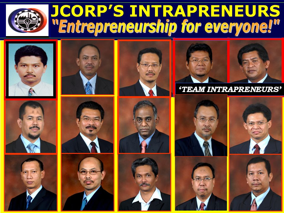 JCORP'S INTRAPRENEURS JCorp's Intrapreneurs: Equity up to 25%. 'TEAM INTRAPRENEURS'