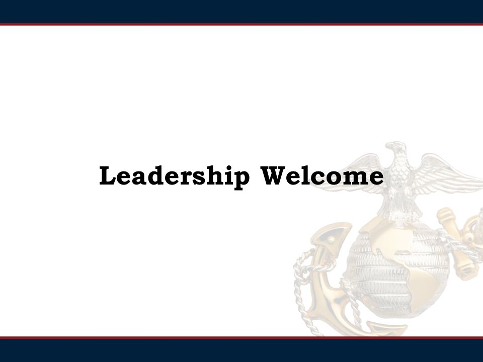 Leadership Welcome
