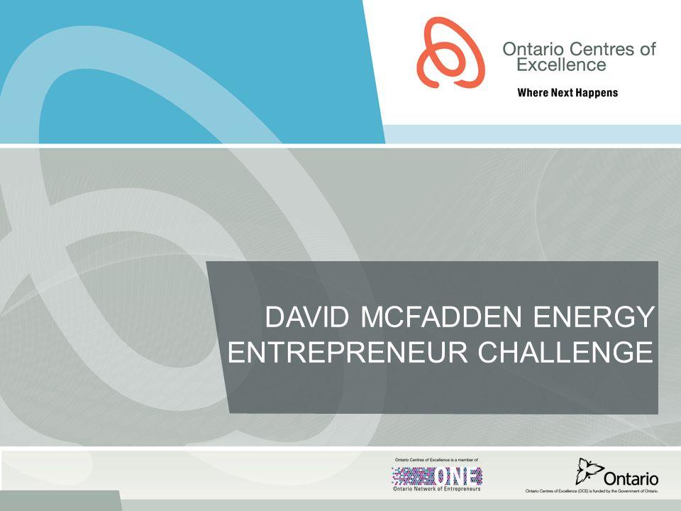 DAVID MCFADDEN ENERGY ENTREPRENEUR CHALLENGE
