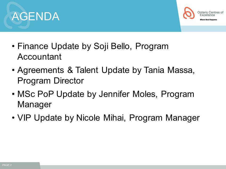 FINANCIAL UPDATE Soji Bello,MBA,CMA
