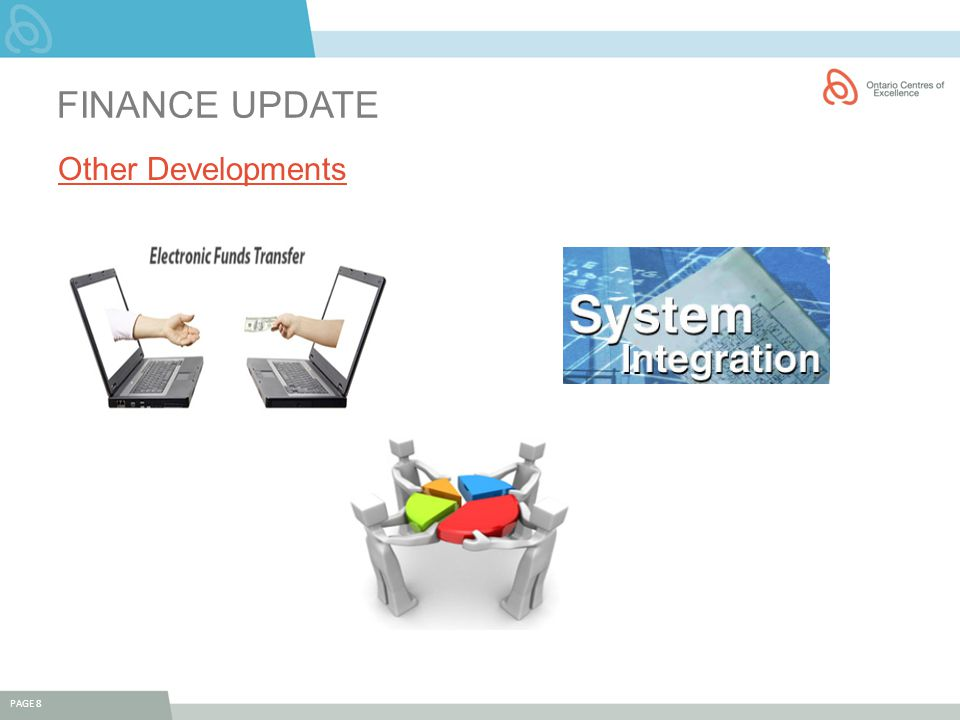 FINANCE UPDATE Other Developments PAGE 8