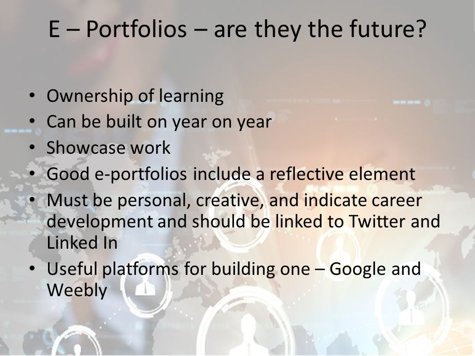 E – Portfolios – are they the future.