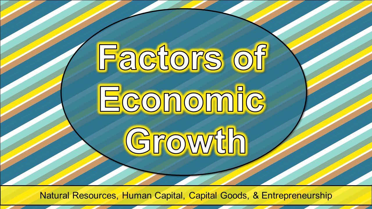 Natural Resources, Human Capital, Capital Goods, & Entrepreneurship