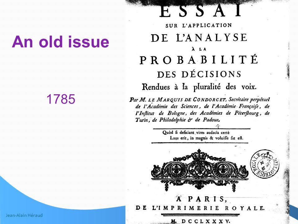 Jean-Alain Héraud 7 An old issue 1785