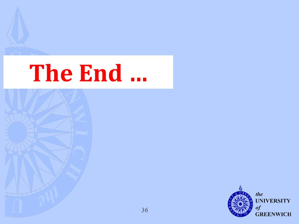 36 The End …