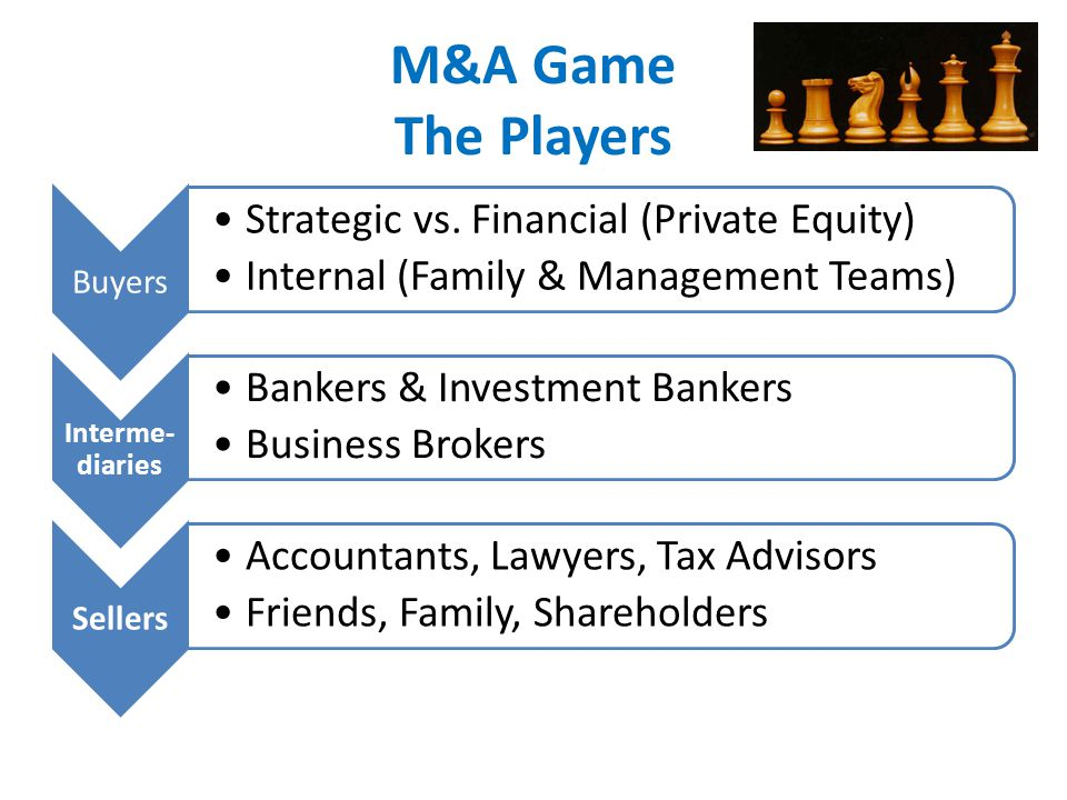 M&A Game The Players Buyers Strategic vs.