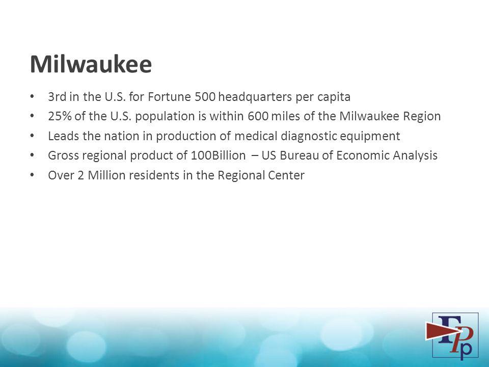 3rd in the U.S. for Fortune 500 headquarters per capita 25% of the U.S.