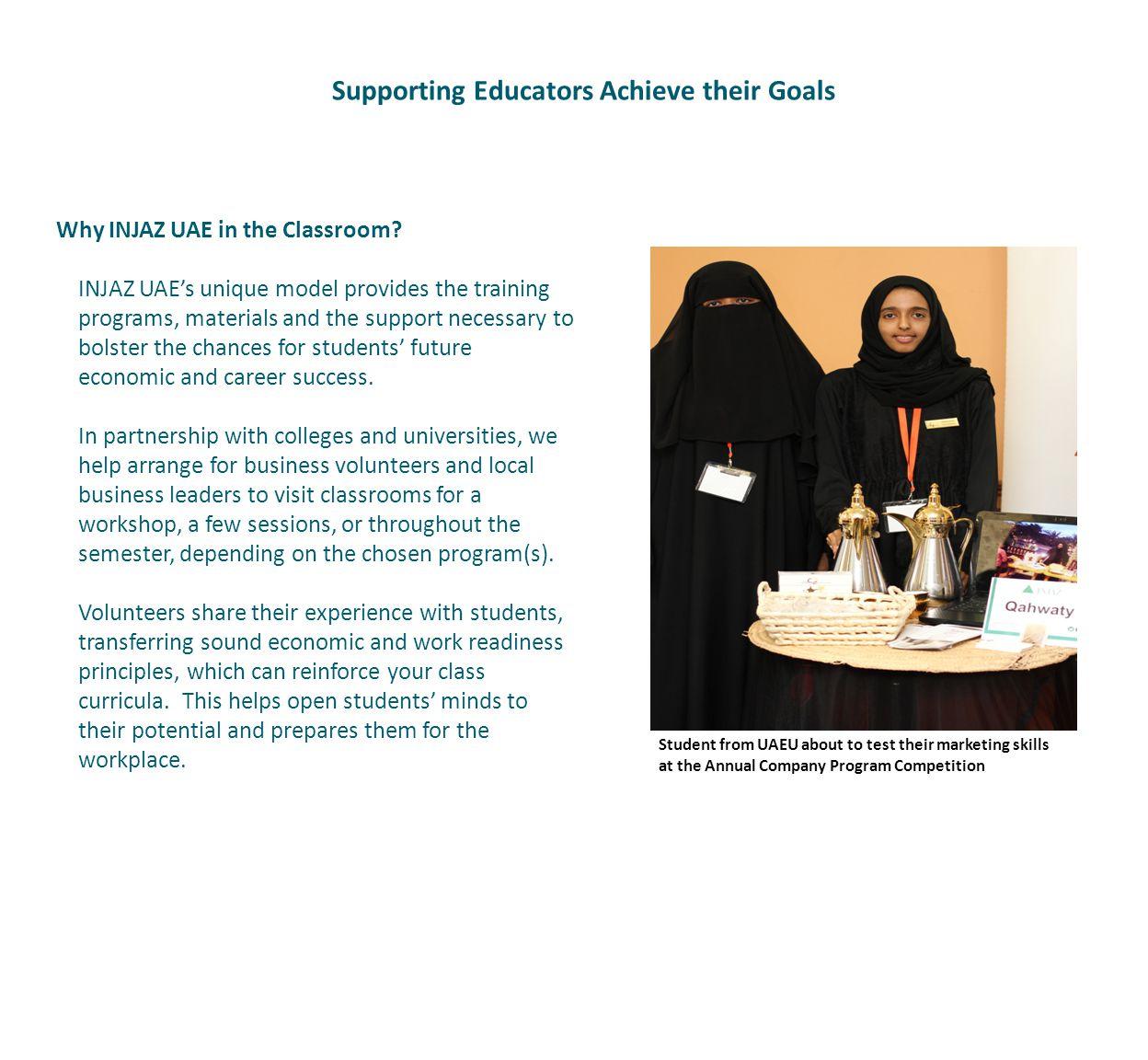 Why INJAZ UAE in the Classroom.