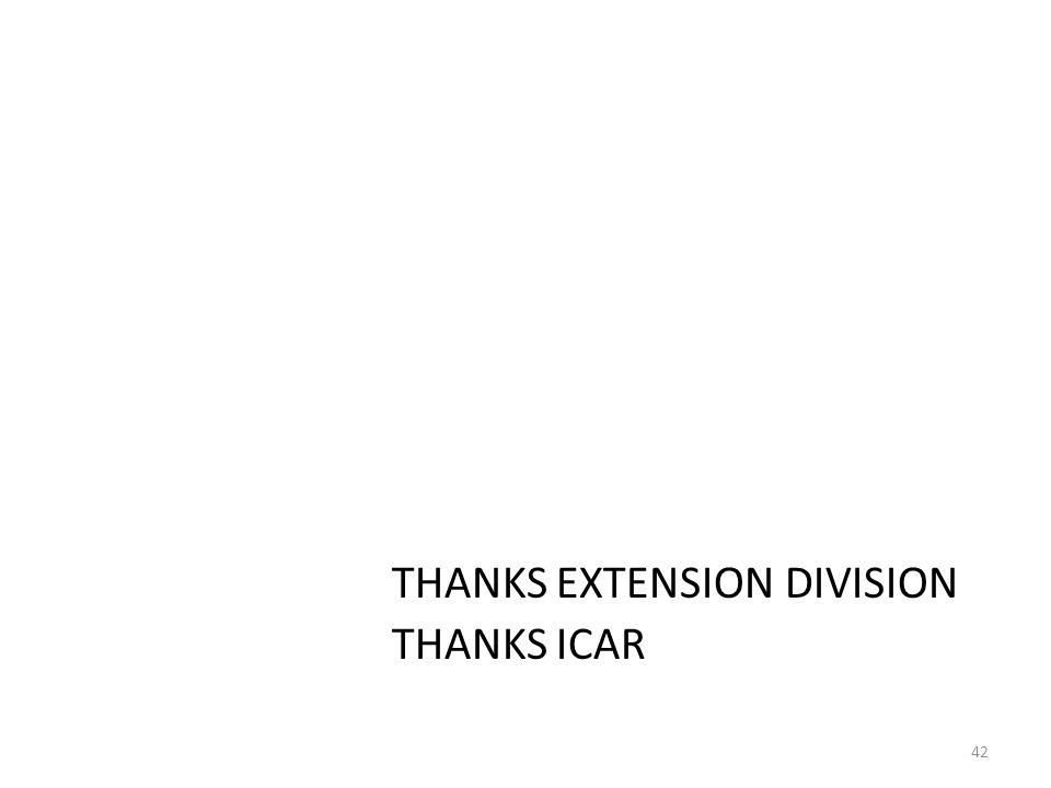 THANKS EXTENSION DIVISION THANKS ICAR 42