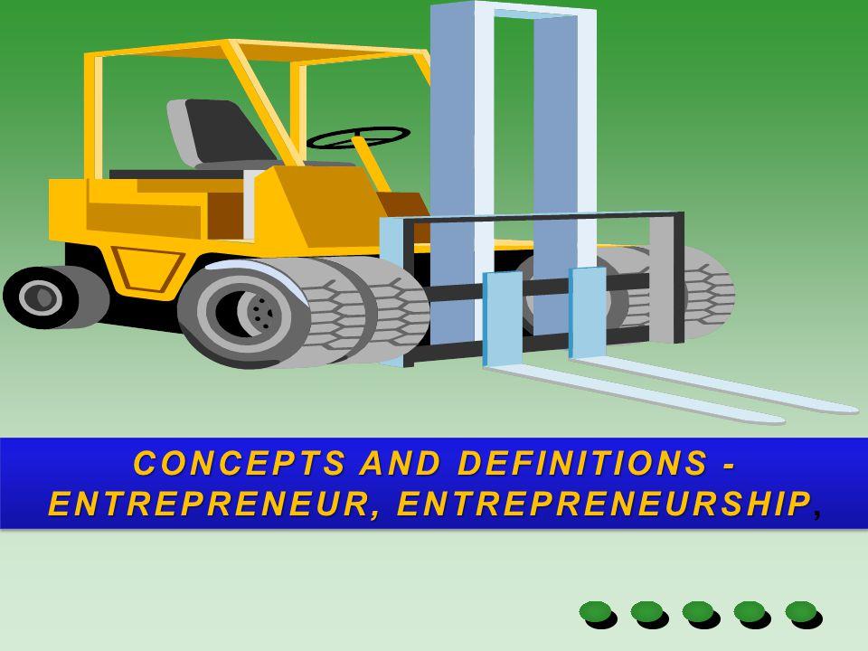 ENTREPRENEUR An entrepreneur is a person who starts an enterprise.