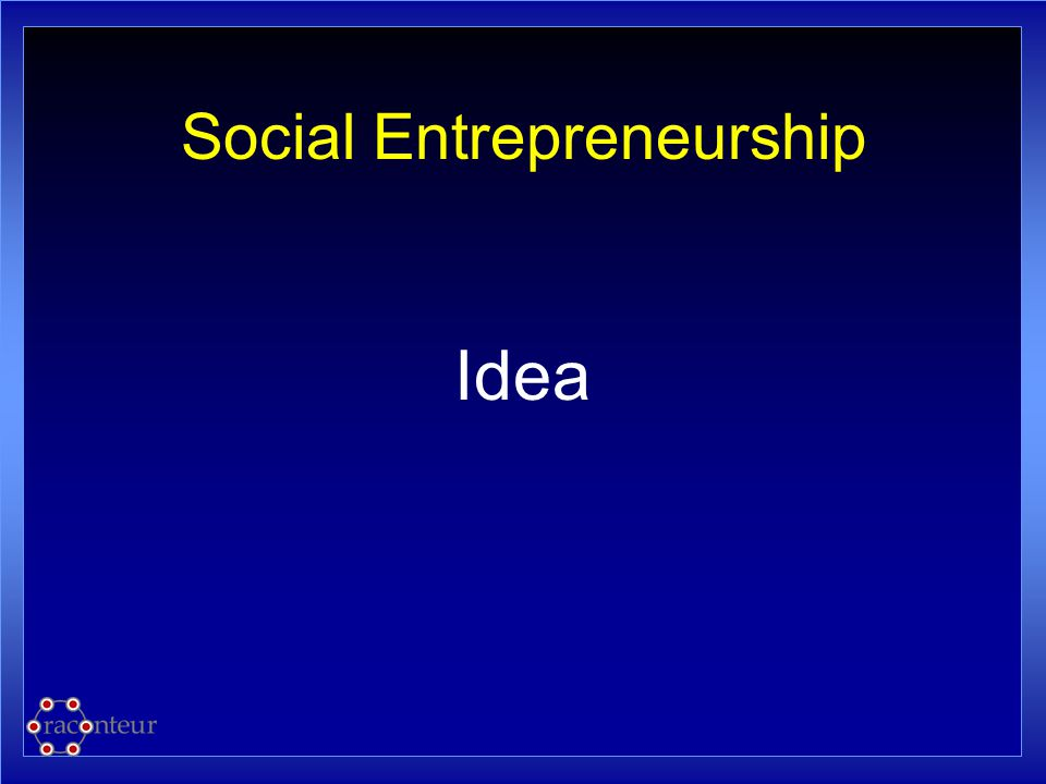 Social Entrepreneurship Idea