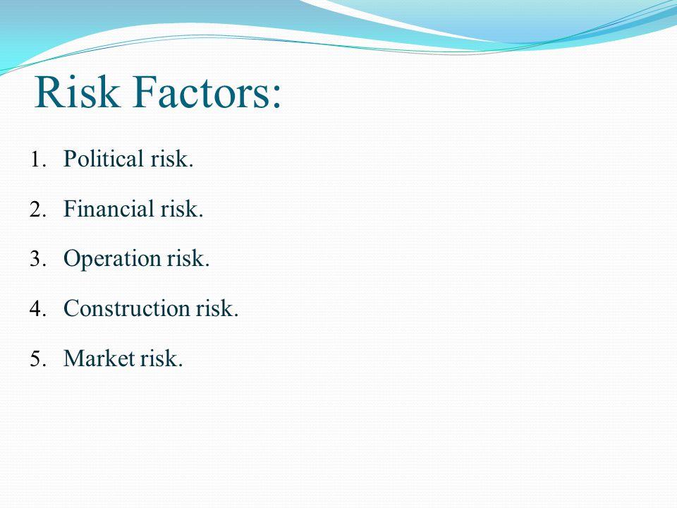 Risk Factors: 1. Political risk. 2. Financial risk.