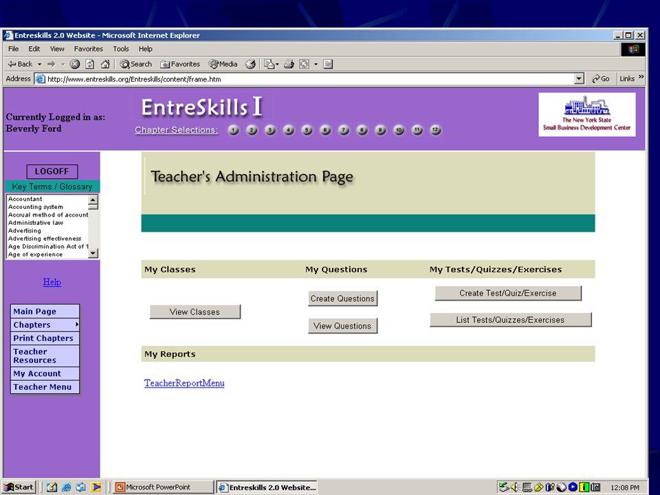 Teacher Administration View